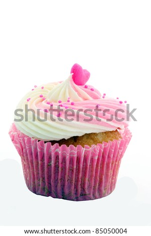 Pink Cup cake - stock photo