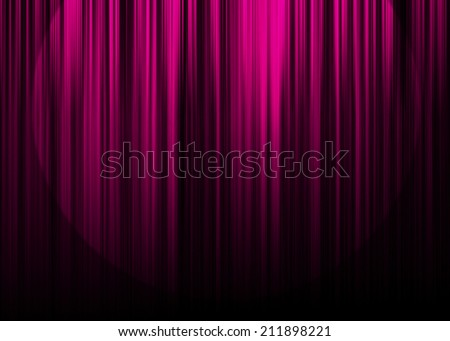 Pink curtain stage with spot light background  - stock photo