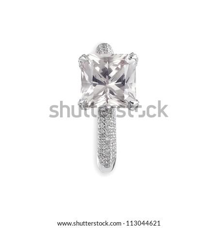 Pink diamond ring. - stock photo