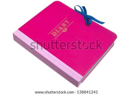 Pink Diary - stock photo
