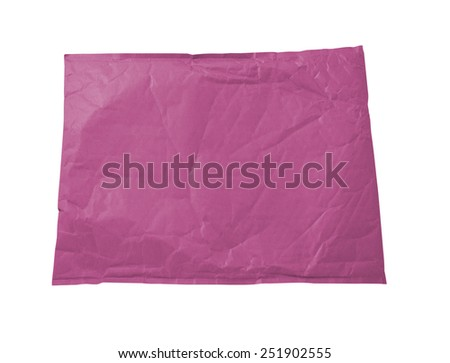 Pink document envelope - stock photo