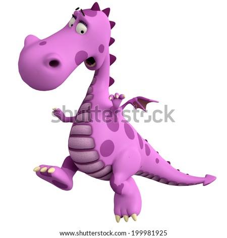 pink dragon jump - stock photo