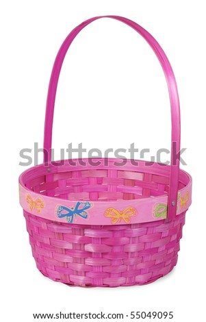Pink Eater Basket - stock photo