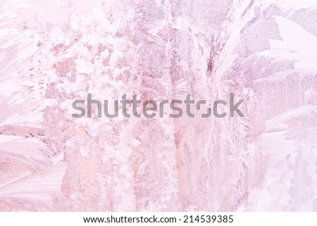 pink fantastic icy surface