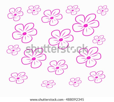 Pink Flower / floral seamless pattern