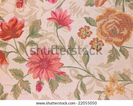 Pink flowers background cloth - stock photo