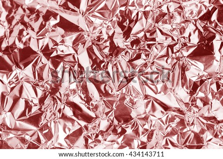Pink  foil background surface for and background - stock photo