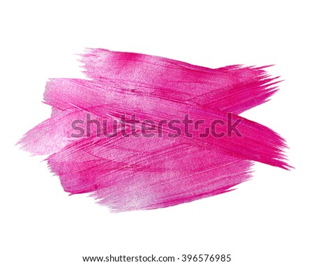 Pink Foil  Watercolor Texture Paint Stain Abstract Illustration. Shining brush stroke for you amazing design project.