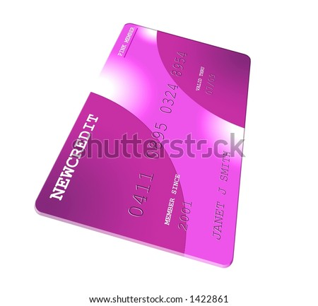 Pink Generic Credit Card