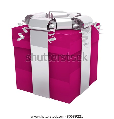 Pink Gift box for her - stock photo