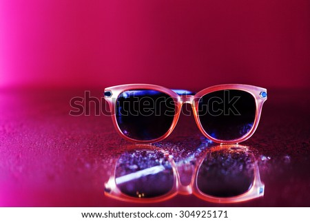 pink glasses - stock photo