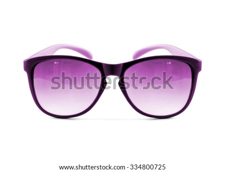 pink glasses on the white
