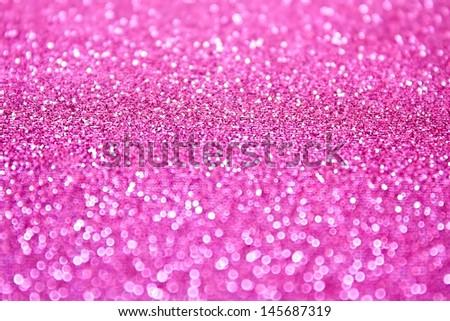 Pink glitter bokeh background - stock photo