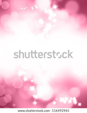 Pink glitters on a soft blurred background with smooth highlights - stock photo