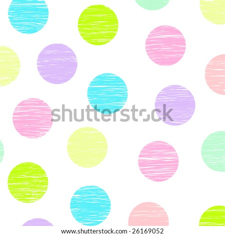 pink, green, blue, lime, purple polka dots