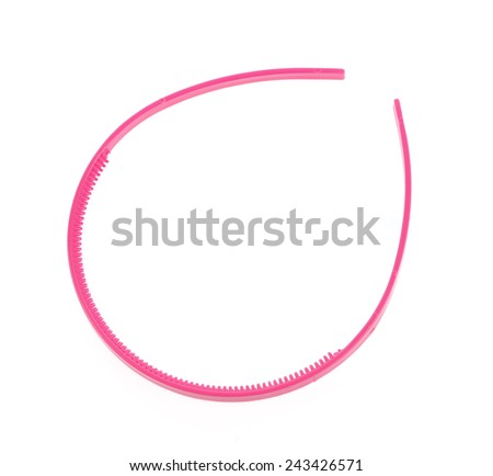 pink hair band isolated on the white background - stock photo