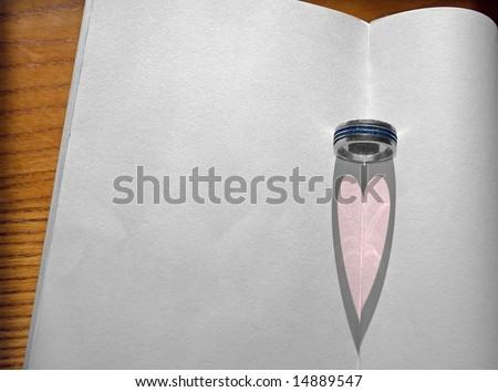 Pink Heart - stock photo