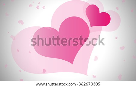 Pink heart for valentine