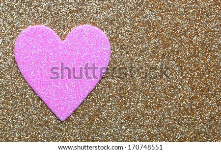 Pink And Gold Glitter Background