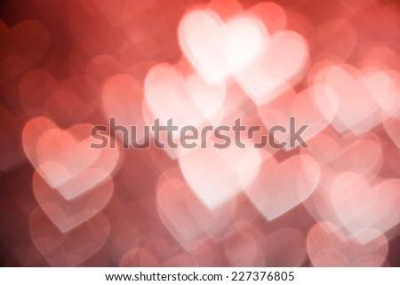 pink heart shape holiday photo background - stock photo