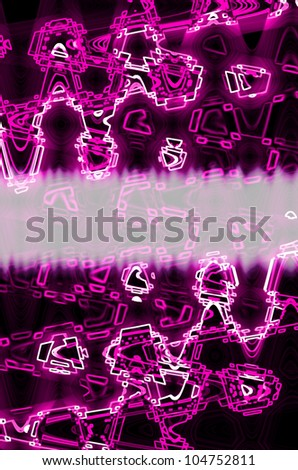 pink in dark abstract line background. - stock photo