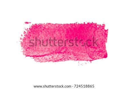Pink ink background painted by brush.