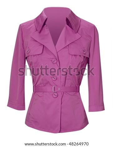 pink jacket - stock photo