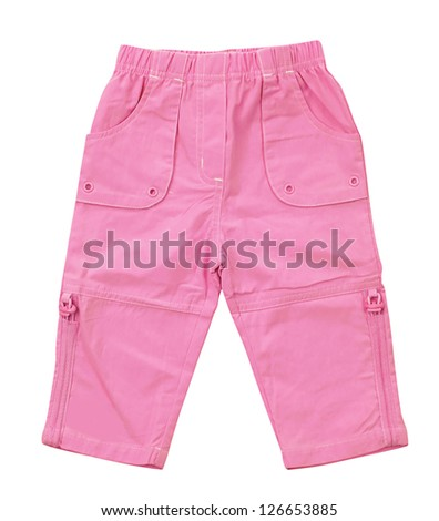 pink jeans - stock photo