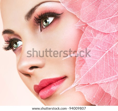 pink leaves - stock photo
