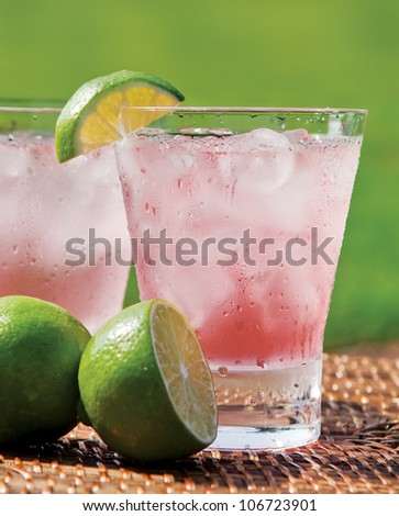 Pink Lemonade - stock photo