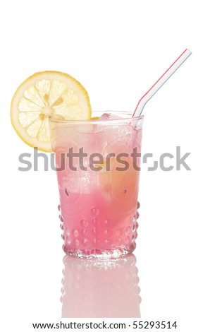 Pink lemonade in an antique style glass - stock photo