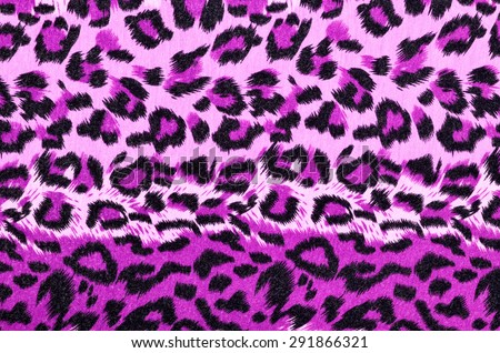 Pink leopard fur pattern. Spotted animal print as background.