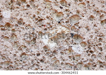 Pink limestone as textured background or backdrop. - stock photo