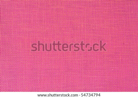 Pink linen fabric as background - Honeysuckle Pantone color of 2011 - stock photo