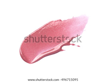Pink lip gloss isolated on white