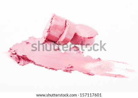 Pink lipstick isolated