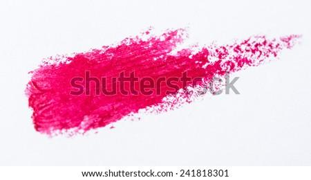 Pink lipstick smears - stock photo