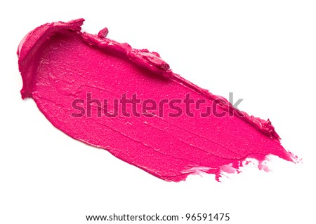 Pink lipstick smears - stock photo
