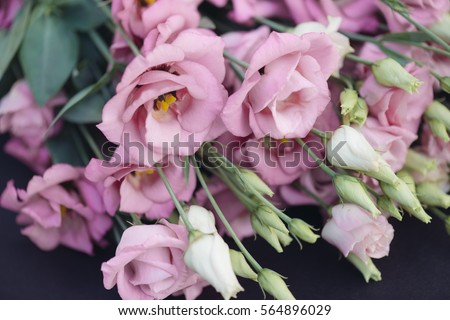 Pink Lisianthus flower decoration.