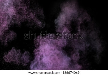 Pink makeup powder explosion  - stock photo