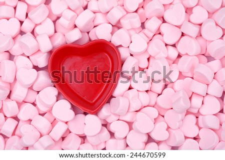 pink marshmallow for Valentine Day as background and texture  - stock photo