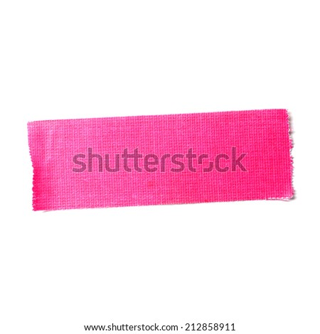 Pink matte cloth tape isolated on white - stock photo