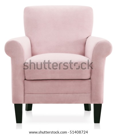 pink modern baroque armchair - stock photo