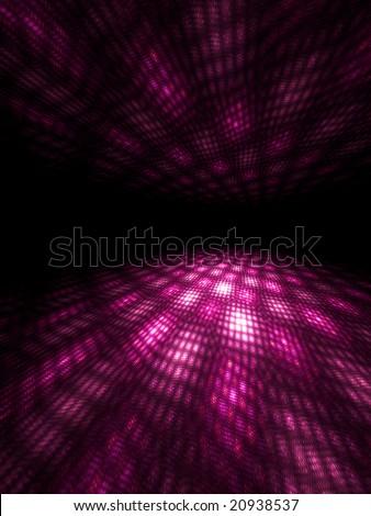Pink Moire - 3D fractal - stock photo