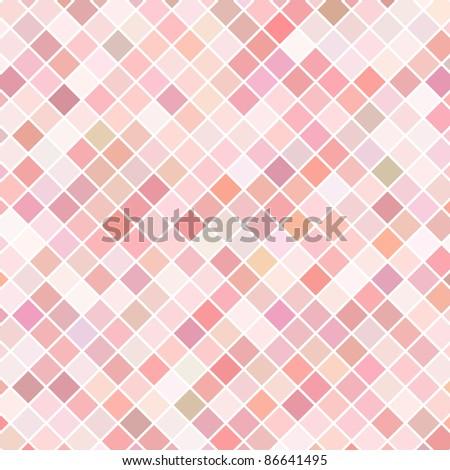 Pink mosaic raster background - stock photo
