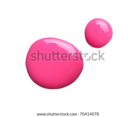 pink nailpolish on white - stock photo