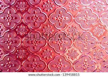 Pink of  Stained glass - stock photo