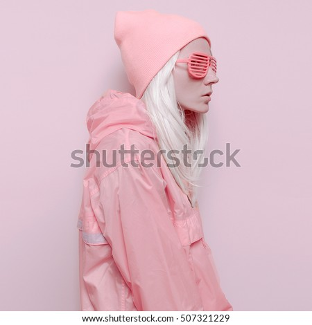 Pink Orange Mix Vanilla Lady Fashion Swag