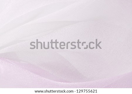 pink organza fabric background - stock photo