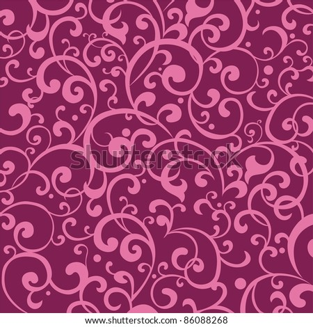 Pink ornament. Floral background
